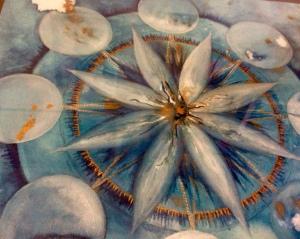 Mandala a ripetizione 8 - Inverno, tecniche miste, 20x20 cm